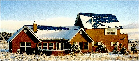 Northern New Mexico Style Pitched Metal Roof